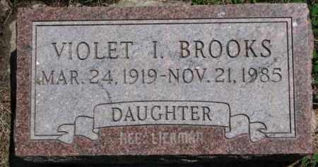 BROOKS, VIOLET I. - Antelope County, Nebraska   VIOLET I. BROOKS - Nebraska Gravestone Photos