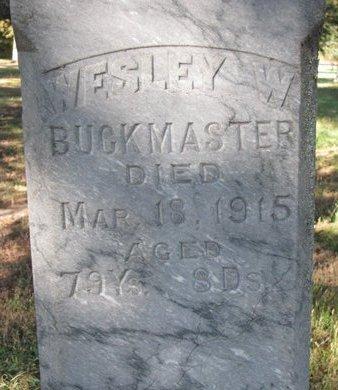 BUCKMASTER, WESLEY W. (CLOSE UP) - Antelope County, Nebraska | WESLEY W. (CLOSE UP) BUCKMASTER - Nebraska Gravestone Photos