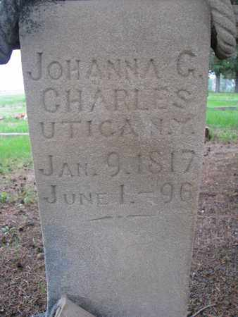 CHARLES, JOHANNA G. (CLOSEUP) - Antelope County, Nebraska | JOHANNA G. (CLOSEUP) CHARLES - Nebraska Gravestone Photos