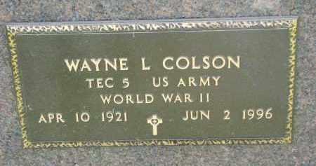 COLSON, WAYNE L. (WW II) - Antelope County, Nebraska | WAYNE L. (WW II) COLSON - Nebraska Gravestone Photos