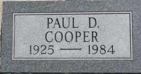 COOPER, PAUL D. - Antelope County, Nebraska   PAUL D. COOPER - Nebraska Gravestone Photos