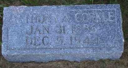 CORKLE, ANTHONY A - Antelope County, Nebraska | ANTHONY A CORKLE - Nebraska Gravestone Photos