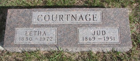 COURTNAGE, LETHA ELLEN - Antelope County, Nebraska | LETHA ELLEN COURTNAGE - Nebraska Gravestone Photos