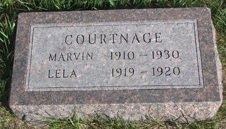 COURTNAGE, LELA - Antelope County, Nebraska   LELA COURTNAGE - Nebraska Gravestone Photos