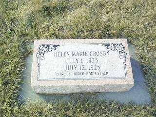 CROSON, HELEN MARIE - Antelope County, Nebraska | HELEN MARIE CROSON - Nebraska Gravestone Photos