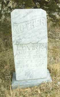 CRUM, LOVINA - Antelope County, Nebraska | LOVINA CRUM - Nebraska Gravestone Photos