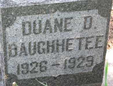 DAUGHHETEE, DUANE D. - Antelope County, Nebraska | DUANE D. DAUGHHETEE - Nebraska Gravestone Photos