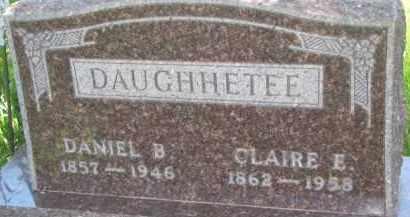 DAUGHHETEE, CLAIRE E. - Antelope County, Nebraska   CLAIRE E. DAUGHHETEE - Nebraska Gravestone Photos