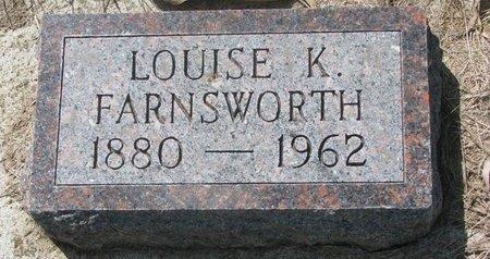 BAHM FARNSWORTH, LOUISE KATHERINE - Antelope County, Nebraska   LOUISE KATHERINE BAHM FARNSWORTH - Nebraska Gravestone Photos