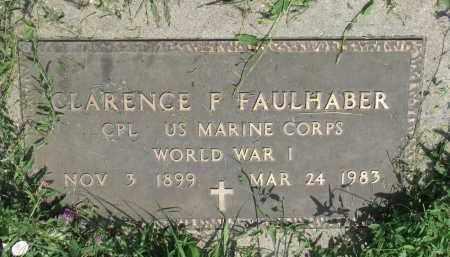 FAULHABER, CLARENCE F. (WW I) - Antelope County, Nebraska | CLARENCE F. (WW I) FAULHABER - Nebraska Gravestone Photos