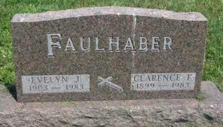 FAULHABER, CLARENCE F. - Antelope County, Nebraska   CLARENCE F. FAULHABER - Nebraska Gravestone Photos