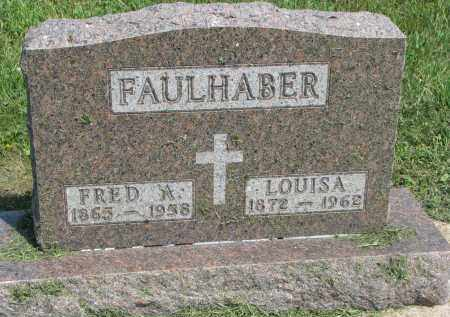 FAULHABER, FRED A. - Antelope County, Nebraska | FRED A. FAULHABER - Nebraska Gravestone Photos