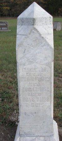 FORBES, FANNIE MARIA - Antelope County, Nebraska   FANNIE MARIA FORBES - Nebraska Gravestone Photos