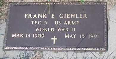 GIEHLER, FRANK E - Antelope County, Nebraska | FRANK E GIEHLER - Nebraska Gravestone Photos