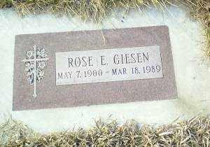 GIESEN, ROSE - Antelope County, Nebraska   ROSE GIESEN - Nebraska Gravestone Photos