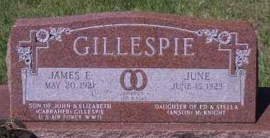 GILESPIE, JAMES E - Antelope County, Nebraska | JAMES E GILESPIE - Nebraska Gravestone Photos