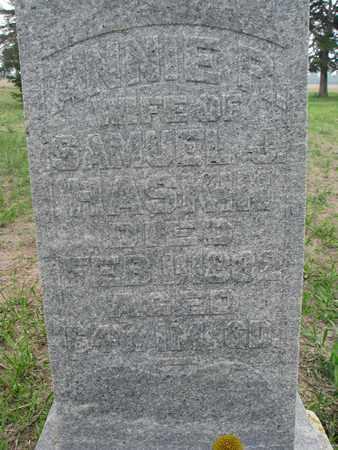 HASKIN, ANNIE R. (CLOSEUP) - Antelope County, Nebraska | ANNIE R. (CLOSEUP) HASKIN - Nebraska Gravestone Photos