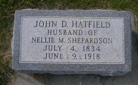 HATFIELD, JOHN D. - Antelope County, Nebraska | JOHN D. HATFIELD - Nebraska Gravestone Photos