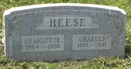 HEESE, CHARLOTTE - Antelope County, Nebraska   CHARLOTTE HEESE - Nebraska Gravestone Photos