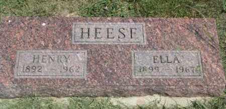 HEESE, ELLA - Antelope County, Nebraska | ELLA HEESE - Nebraska Gravestone Photos