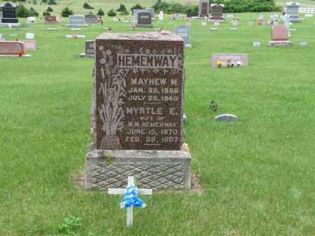 HEMENWAY, MYRTLE E - Antelope County, Nebraska | MYRTLE E HEMENWAY - Nebraska Gravestone Photos
