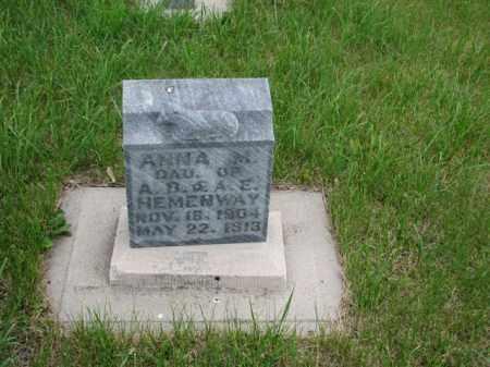 HEMENWAY, ANNA MARY - Antelope County, Nebraska | ANNA MARY HEMENWAY - Nebraska Gravestone Photos
