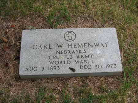HEMENWAY, CARL W - Antelope County, Nebraska   CARL W HEMENWAY - Nebraska Gravestone Photos