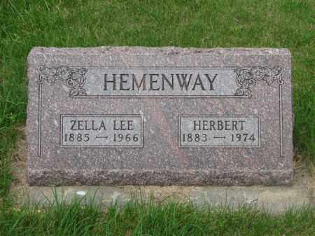 HARRINGTON HEMENWAY, ZELLA LEE - Antelope County, Nebraska | ZELLA LEE HARRINGTON HEMENWAY - Nebraska Gravestone Photos
