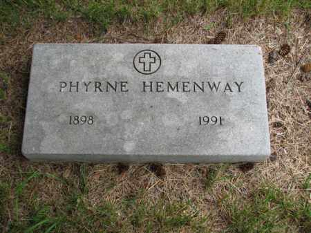 RUSSELL HEMENWAY, PHYRNE IONA - Antelope County, Nebraska | PHYRNE IONA RUSSELL HEMENWAY - Nebraska Gravestone Photos