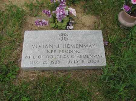 FRODING HEMENWAY, VIVIAN JOYCE - Antelope County, Nebraska | VIVIAN JOYCE FRODING HEMENWAY - Nebraska Gravestone Photos