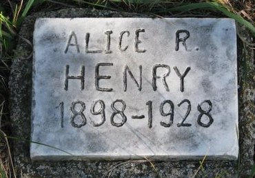 HENRY, ALICE R. - Antelope County, Nebraska   ALICE R. HENRY - Nebraska Gravestone Photos