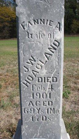 HOAGLAND, FANNIE A. (CLOSE UP) - Antelope County, Nebraska   FANNIE A. (CLOSE UP) HOAGLAND - Nebraska Gravestone Photos