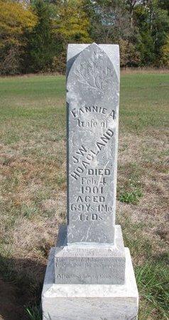 HOAGLAND, FANNIE A. - Antelope County, Nebraska   FANNIE A. HOAGLAND - Nebraska Gravestone Photos