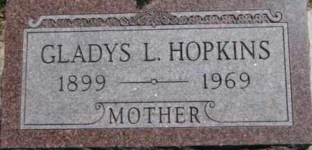 HOPKINS, GLADYS L. - Antelope County, Nebraska   GLADYS L. HOPKINS - Nebraska Gravestone Photos