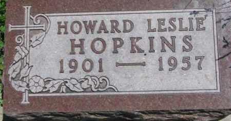 HOPKINS, HOWARD LESLIE - Antelope County, Nebraska   HOWARD LESLIE HOPKINS - Nebraska Gravestone Photos