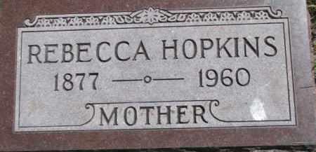 HOPKINS, REBECCA - Antelope County, Nebraska | REBECCA HOPKINS - Nebraska Gravestone Photos