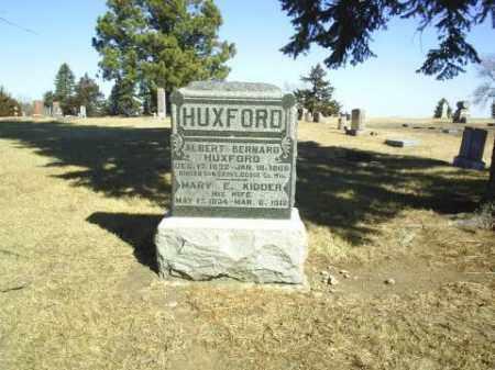 HUXFORD, MARY - Antelope County, Nebraska | MARY HUXFORD - Nebraska Gravestone Photos