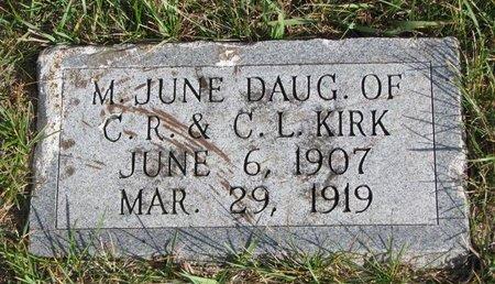 KIRK, M. JUNE - Antelope County, Nebraska   M. JUNE KIRK - Nebraska Gravestone Photos