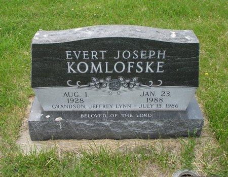 JOSEPH KOMLOFSKE, EVERT - Antelope County, Nebraska | EVERT JOSEPH KOMLOFSKE - Nebraska Gravestone Photos