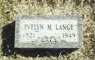 LANGE, EVELYN - Antelope County, Nebraska   EVELYN LANGE - Nebraska Gravestone Photos