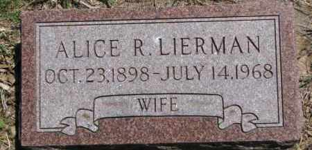 LIERMAN, ALICE R. - Antelope County, Nebraska | ALICE R. LIERMAN - Nebraska Gravestone Photos