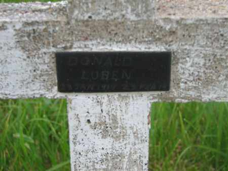 LUBEN, DONALD - Antelope County, Nebraska | DONALD LUBEN - Nebraska Gravestone Photos
