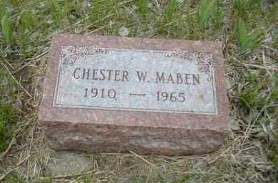 MABEN, CHESTER - Antelope County, Nebraska | CHESTER MABEN - Nebraska Gravestone Photos