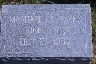 `WELCH MAYES, MARGARET A - Antelope County, Nebraska   MARGARET A `WELCH MAYES - Nebraska Gravestone Photos