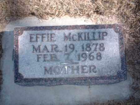 MCKILLIP, EFFIE - Antelope County, Nebraska | EFFIE MCKILLIP - Nebraska Gravestone Photos