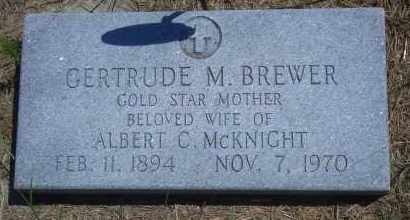 BREWER MCKNIGHT, GERTRUDE M - Antelope County, Nebraska | GERTRUDE M BREWER MCKNIGHT - Nebraska Gravestone Photos