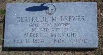 BREWER MCKNIGHT, GERTRUDE M - Antelope County, Nebraska   GERTRUDE M BREWER MCKNIGHT - Nebraska Gravestone Photos