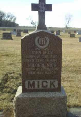 MICK, JOHN - Antelope County, Nebraska | JOHN MICK - Nebraska Gravestone Photos