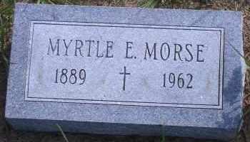 AKERS MORSE, MYRTLE E - Antelope County, Nebraska   MYRTLE E AKERS MORSE - Nebraska Gravestone Photos