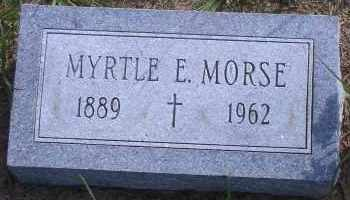 MORSE, MYRTLE E - Antelope County, Nebraska | MYRTLE E MORSE - Nebraska Gravestone Photos